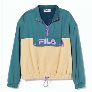 Fila UO Exclusive Una Sherpa Anorak Jacket Large